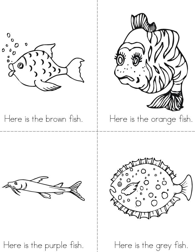 the fish color book twisty noodle - Fish Coloring Book