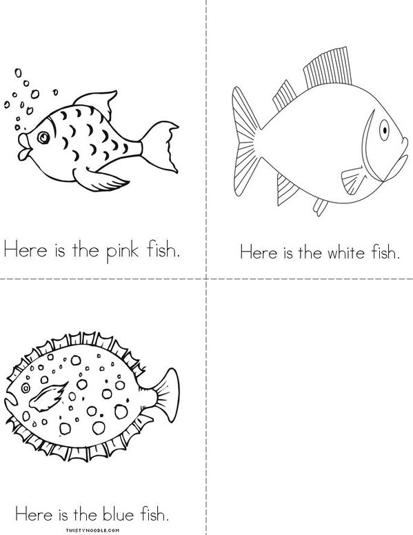 The Fish Color Book Mini Book - Sheet 3
