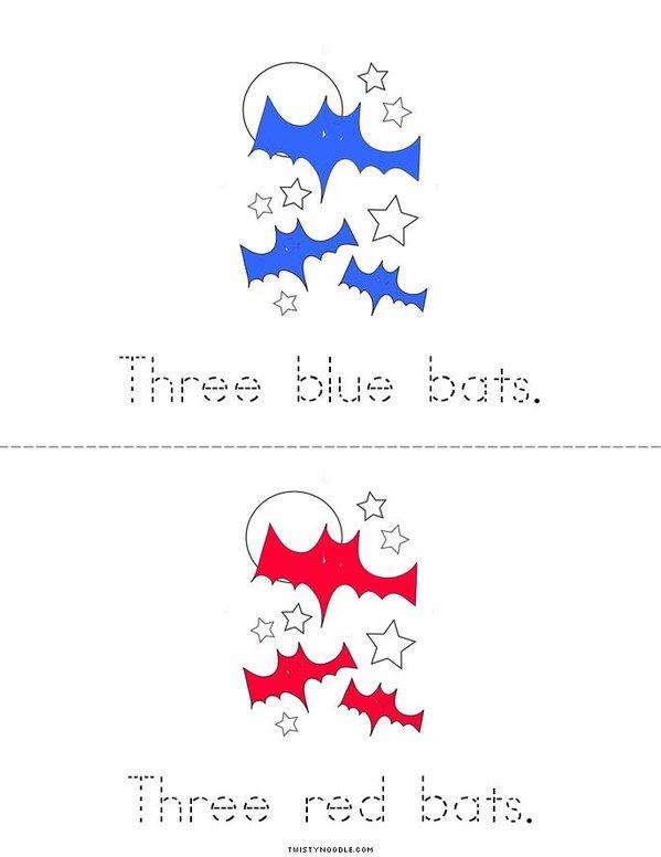 My Three Bats Book Mini Book - Sheet 2