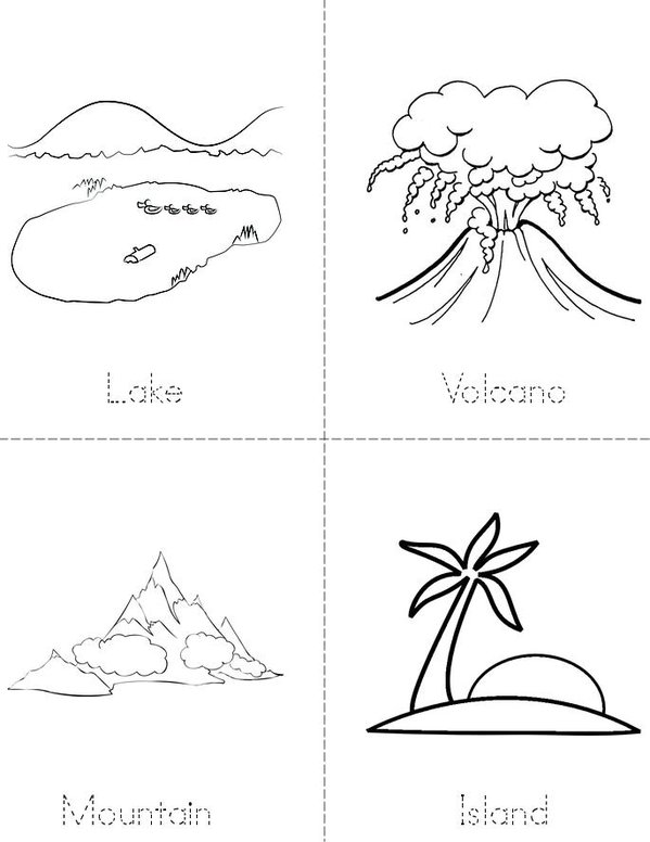 My Landforms Book Mini Book - Sheet 1