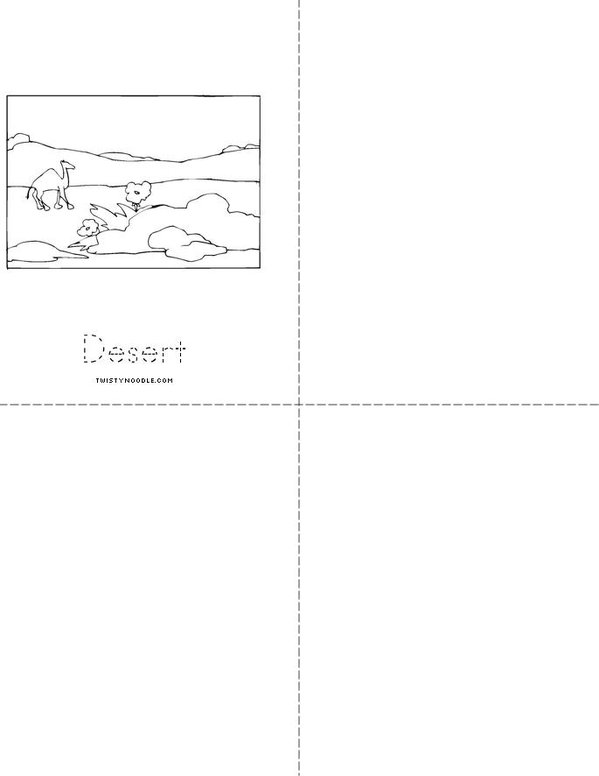 My Landforms Book Mini Book - Sheet 2