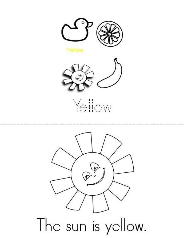 Yellow Mini Book - Sheet 1