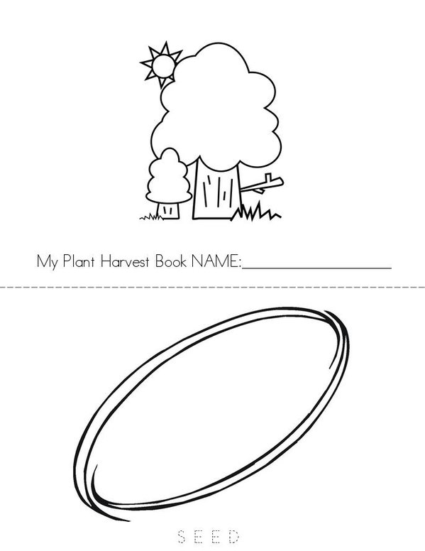 Plant Harvest Book Mini Book - Sheet 1