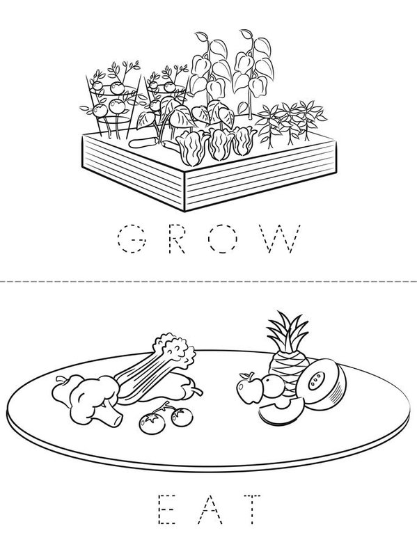 Plant Harvest Book Mini Book - Sheet 5