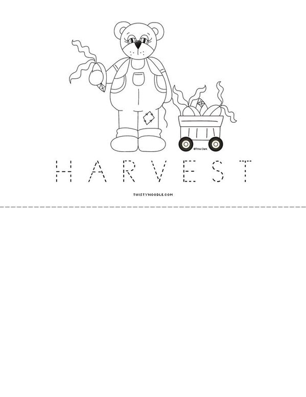 Plant Harvest Book Mini Book - Sheet 6