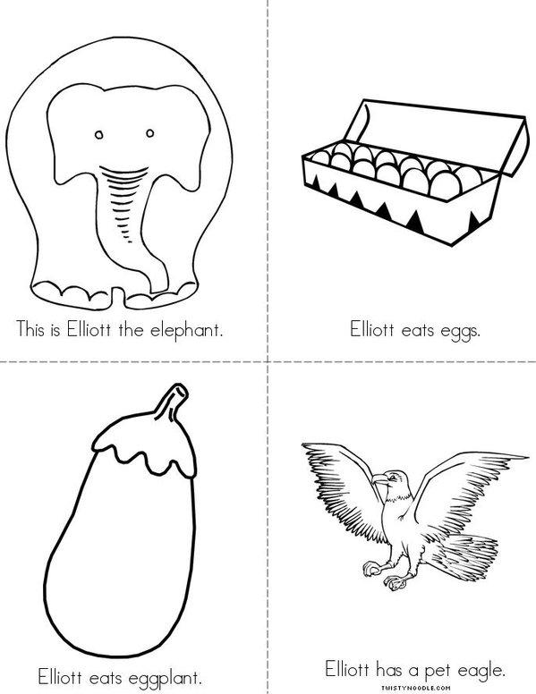 Elliott the Elephant Mini Book
