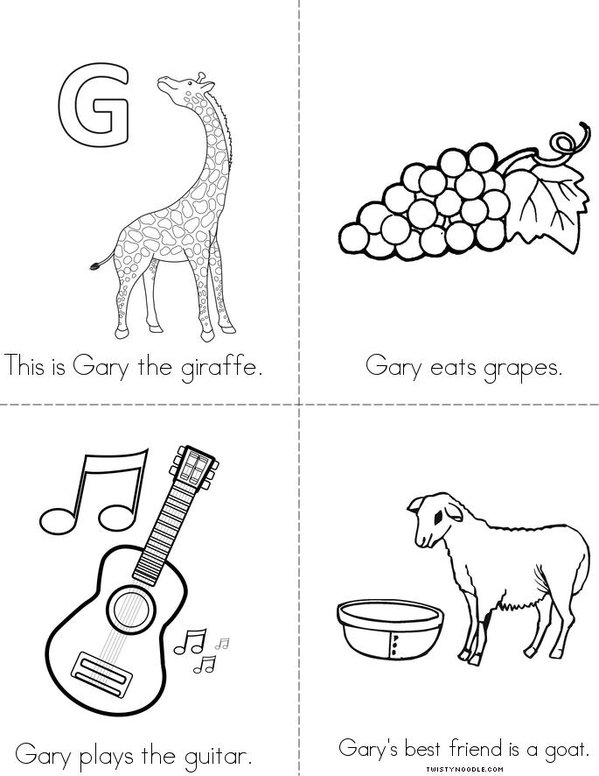 Gary the Giraffe Mini Book