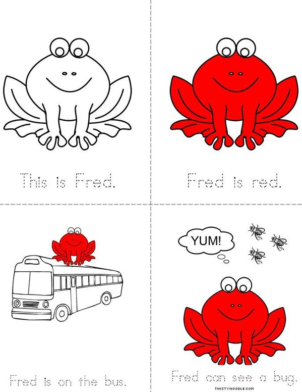 Fred the Frog- Tracing Mini Book