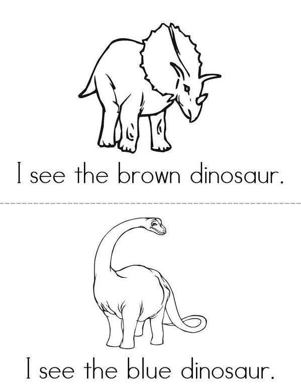 I See A Dinosaur Mini Book - Sheet 1