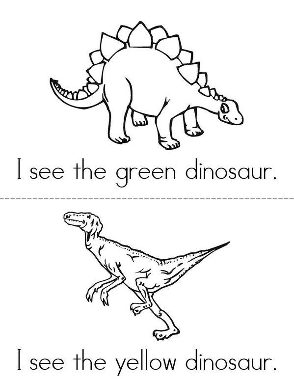 I See A Dinosaur Mini Book - Sheet 2