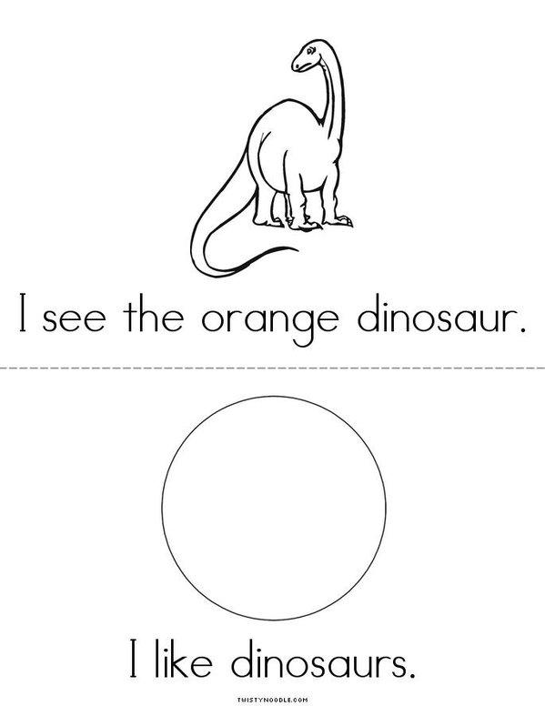 I See A Dinosaur Mini Book - Sheet 3