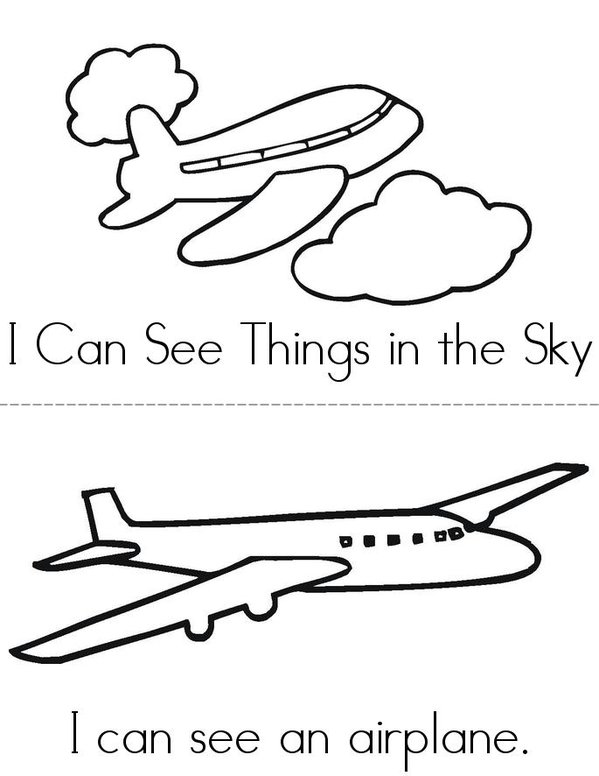 I Can See Things in the Sky Mini Book - Sheet 1