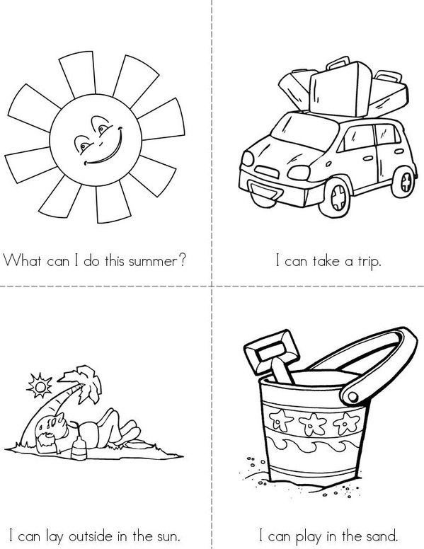 Summertime Mini Book - Sheet 1