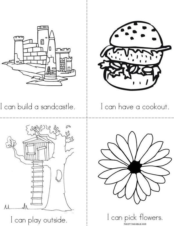 Summertime Mini Book - Sheet 2