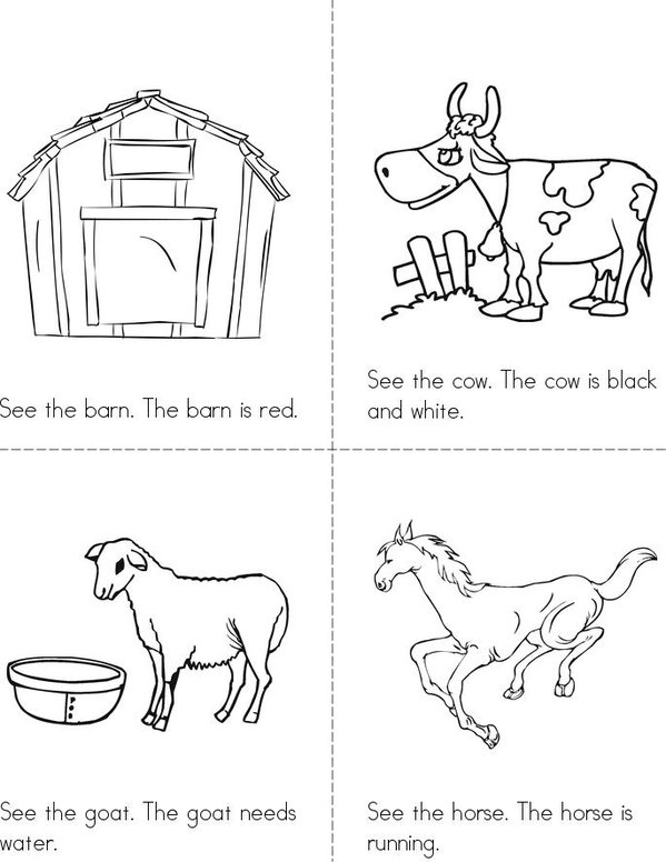At The Farm Mini Book - Sheet 1