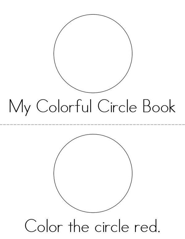 Color the Circles Mini Book - Sheet 1