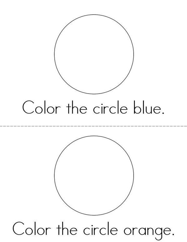 Color the Circles Mini Book - Sheet 2