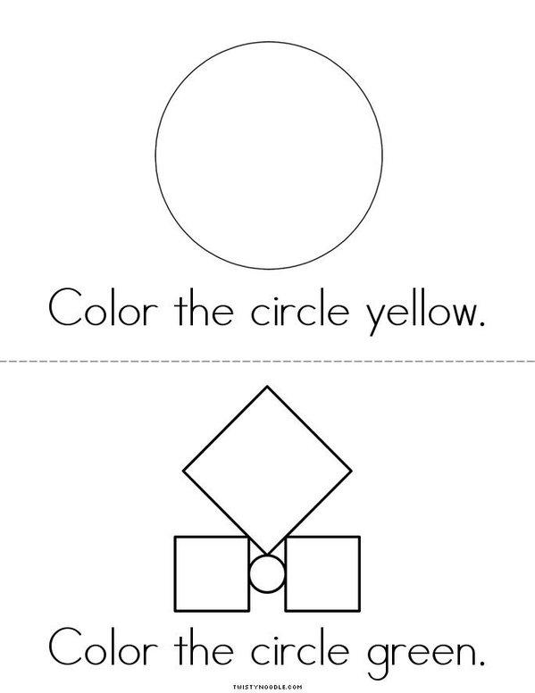 Color the Circles Mini Book - Sheet 3