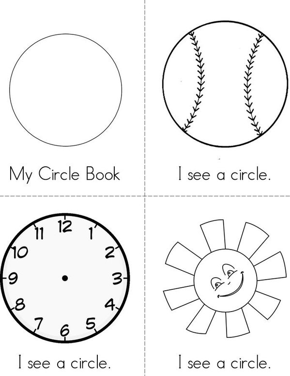I See a Circle! Mini Book - Sheet 1