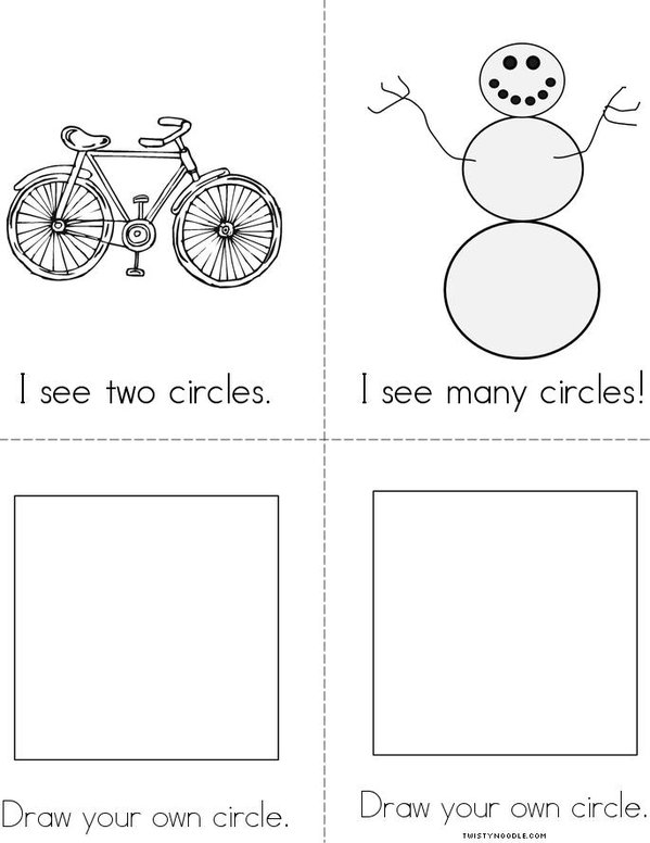 I See a Circle! Mini Book - Sheet 2