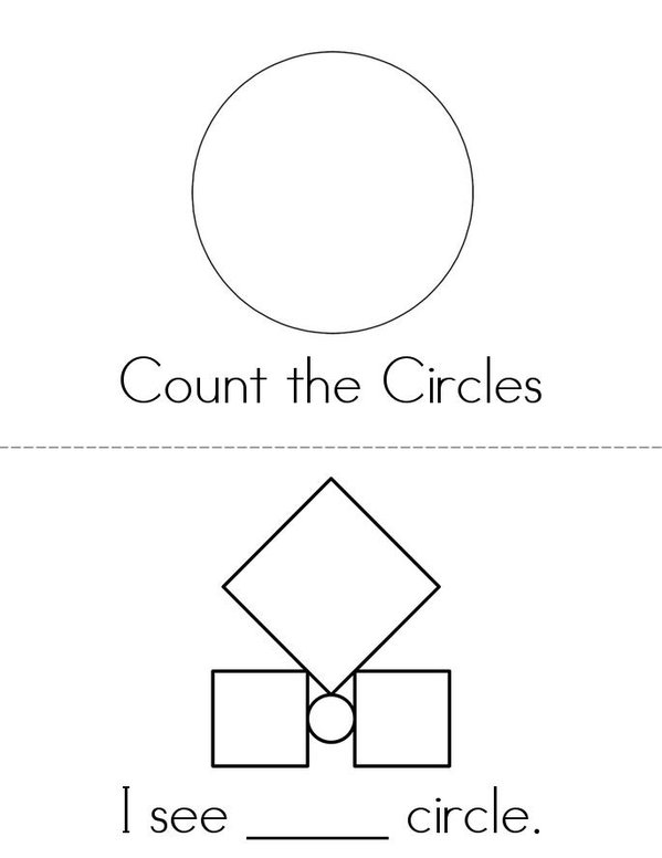 Count the Circles Mini Book - Sheet 1