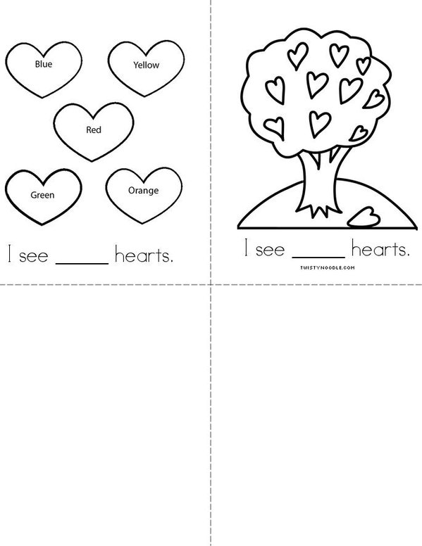 Count the Hearts Mini Book - Sheet 2