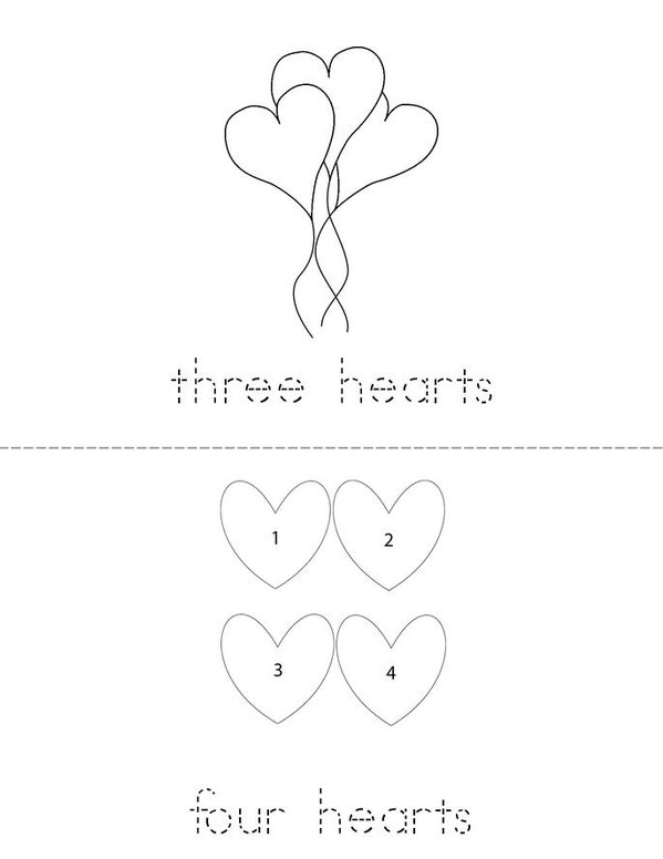 I can count hearts! Mini Book - Sheet 2
