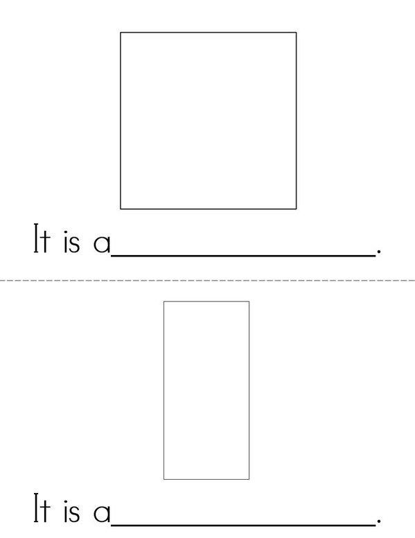 I Know my Shapes Mini Book - Sheet 2