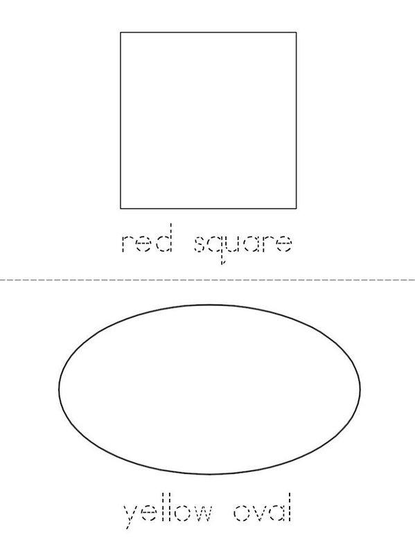 I See Colorful Shapes Mini Book - Sheet 2