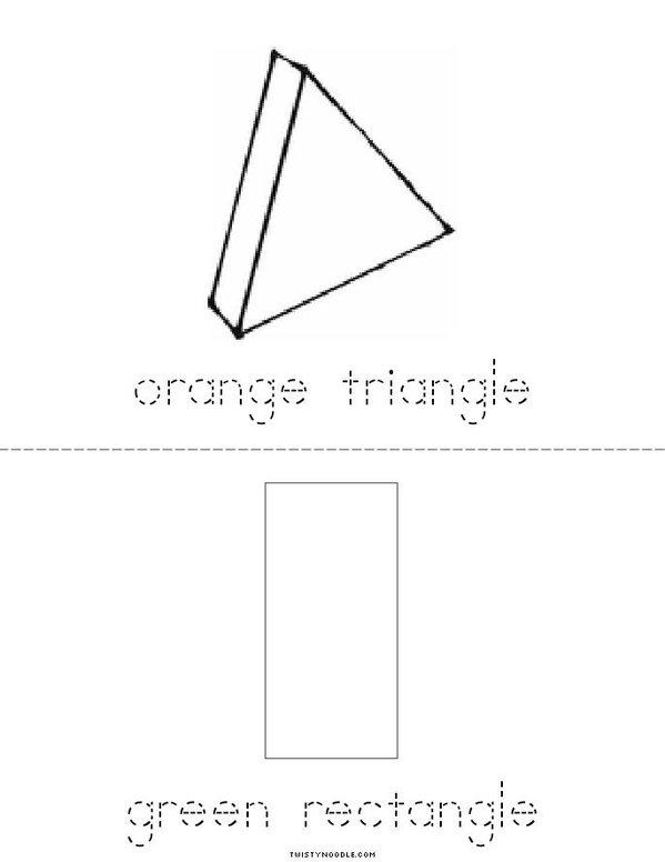 I See Colorful Shapes Mini Book - Sheet 3