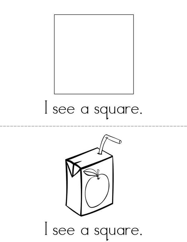 I See Squares! Mini Book - Sheet 1