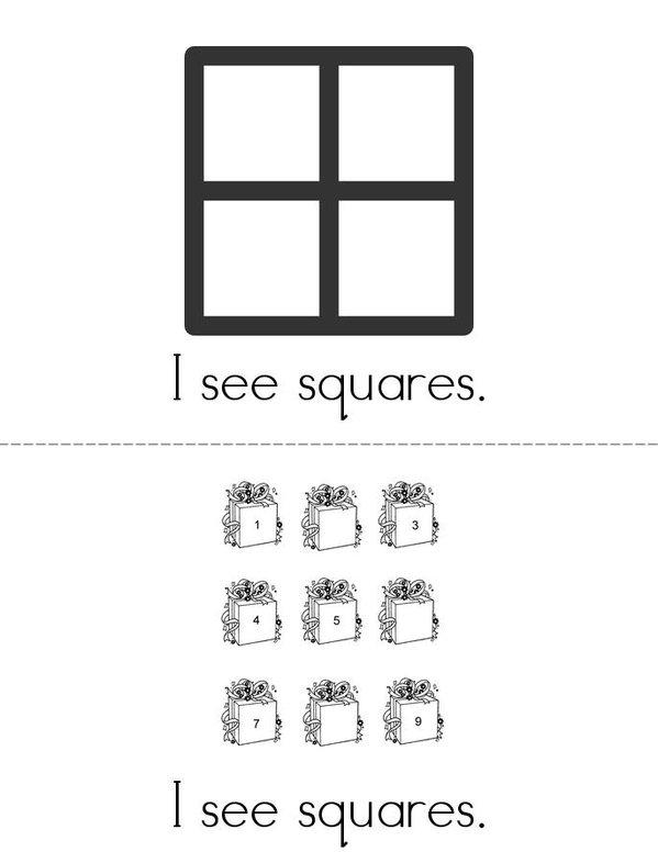 I See Squares! Mini Book - Sheet 2
