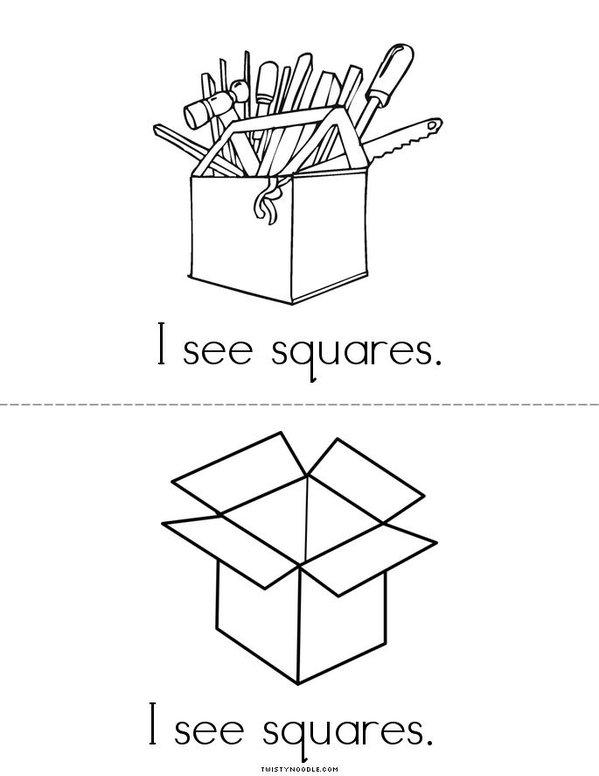 I See Squares! Mini Book - Sheet 3