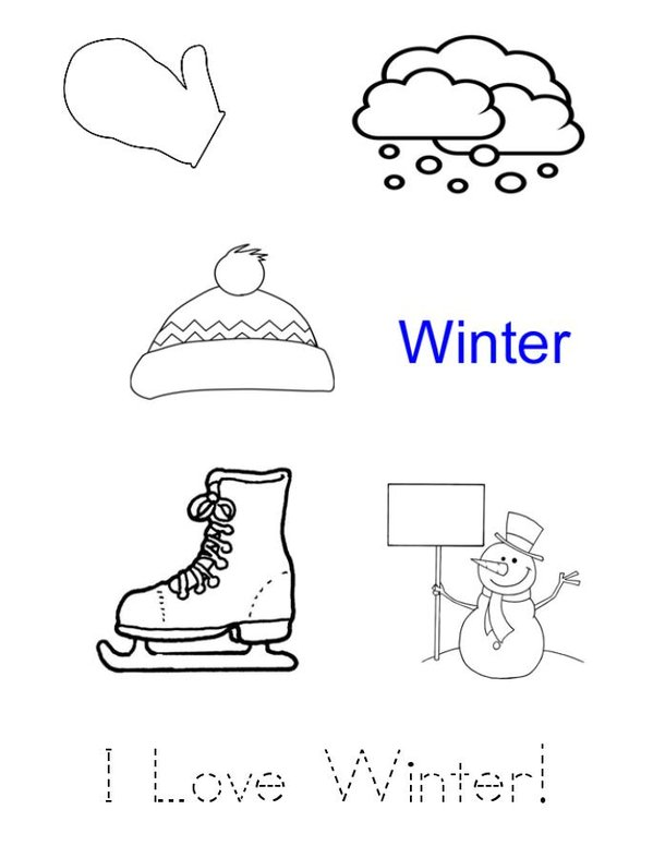 I Love Winter Mini Book - Sheet 1