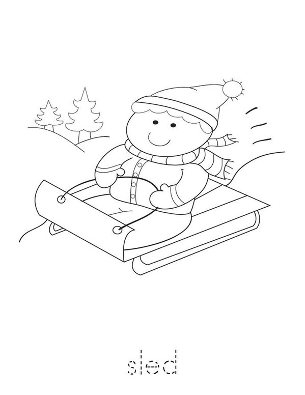 I Love Winter Mini Book - Sheet 2