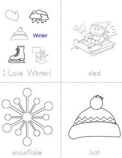 I Love Winter Book