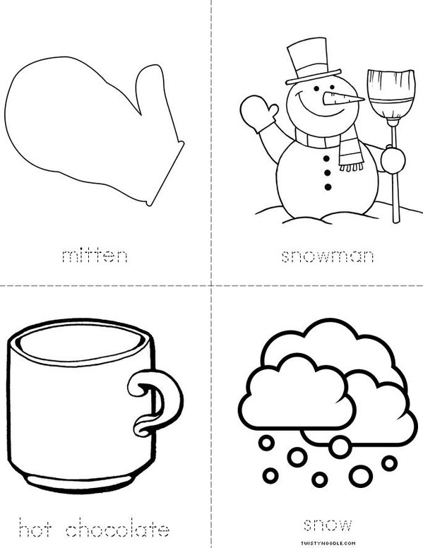 I Love Winter Mini Book - Sheet 2
