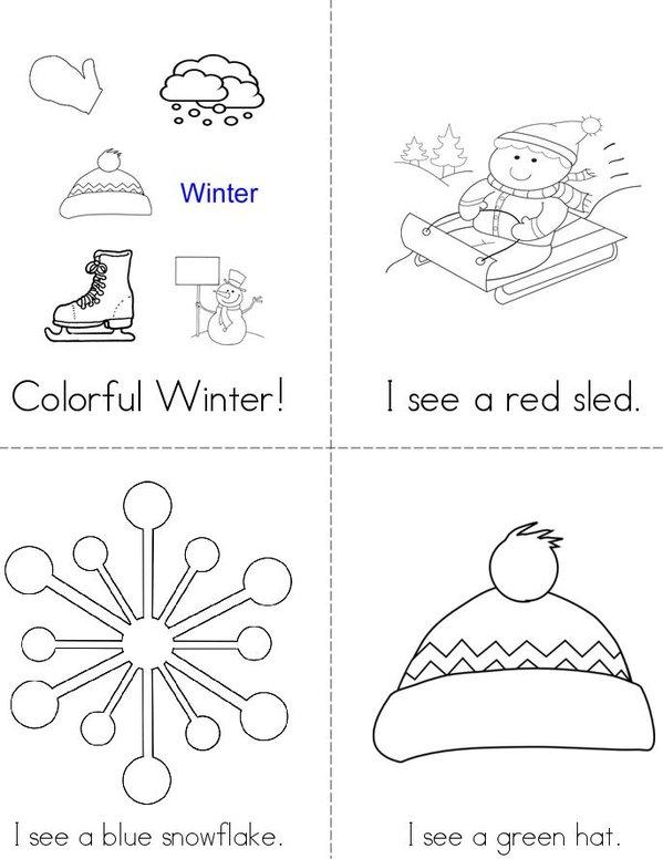 Colorful Winter! Mini Book - Sheet 1