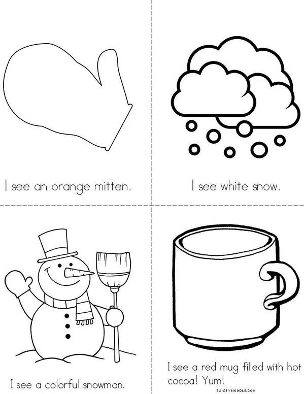 Colorful Winter! Mini Book - Sheet 2