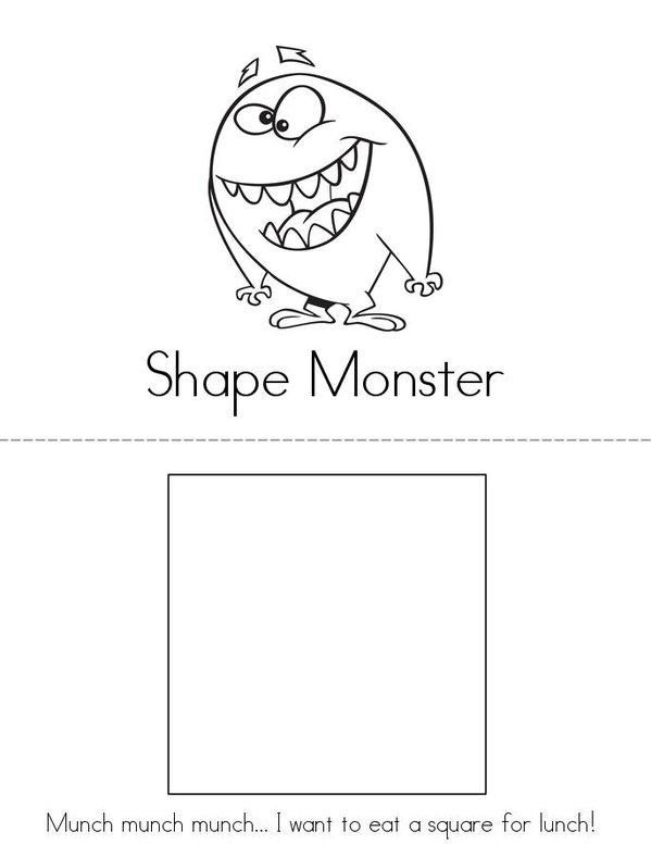 Shape Monster Mini Book - Sheet 1