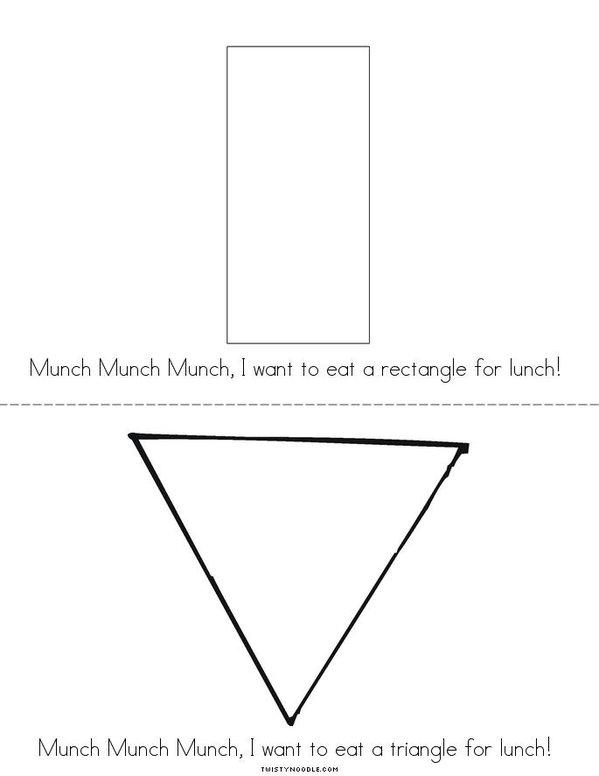 Shape Monster Mini Book - Sheet 3