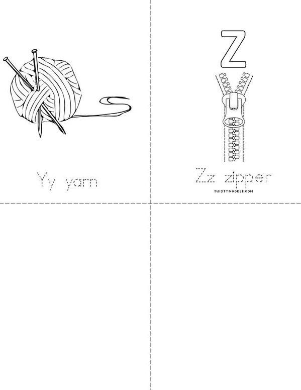 A to Z book Mini Book - Sheet 7