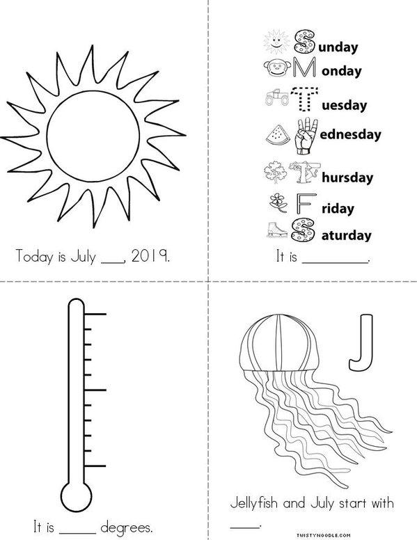July Mini Book