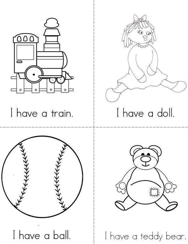 I have (toys) Mini Book - Sheet 1