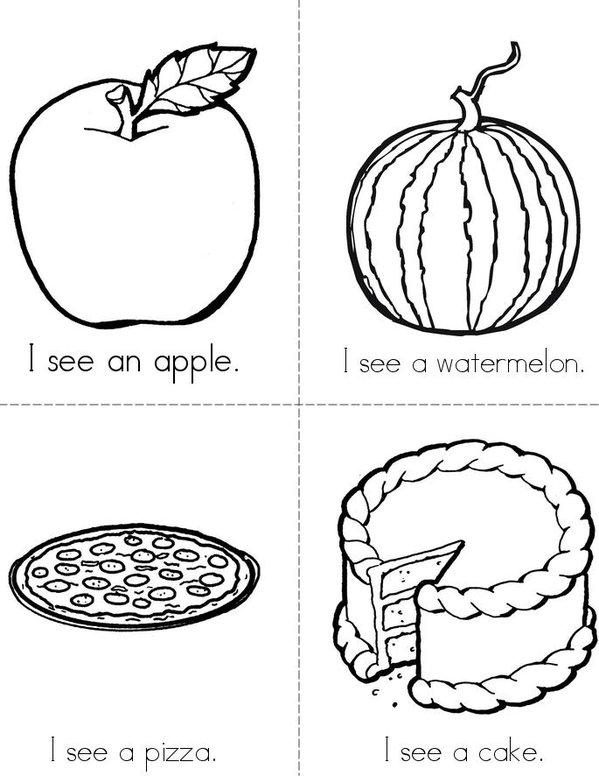 I see (food) Mini Book - Sheet 1