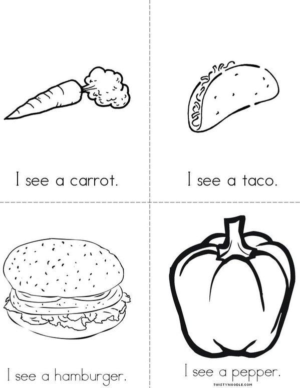 I see (food) Mini Book - Sheet 2
