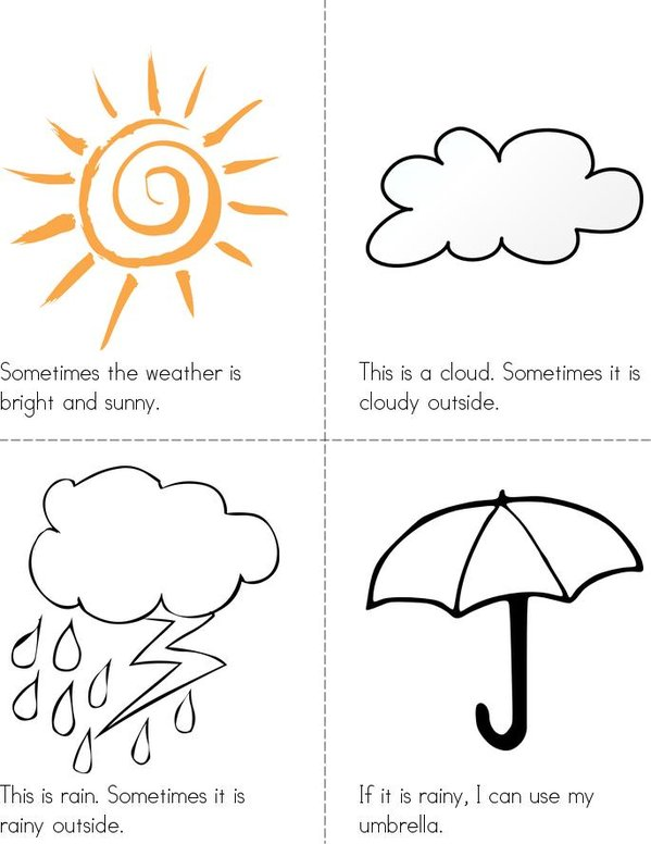 Weather Time Mini Book - Sheet 1