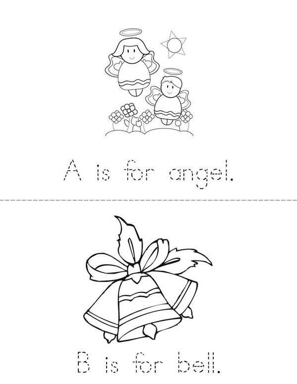 Christmas A to Z Mini Book - Sheet 1