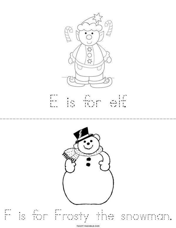 Christmas A to Z Mini Book - Sheet 3