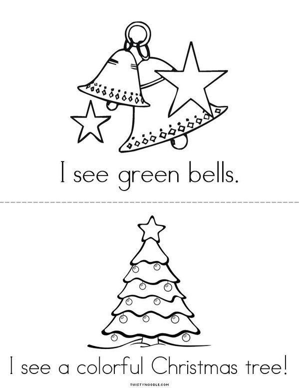 I See a Colorful Christmas Tree! Mini Book - Sheet 4